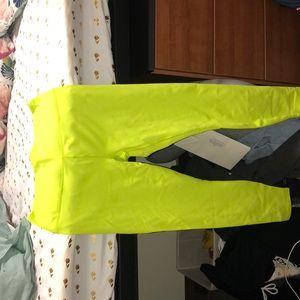 Lime green high waisted leggings